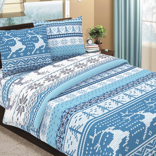 Аляска (голубой) постельное белье бязь
