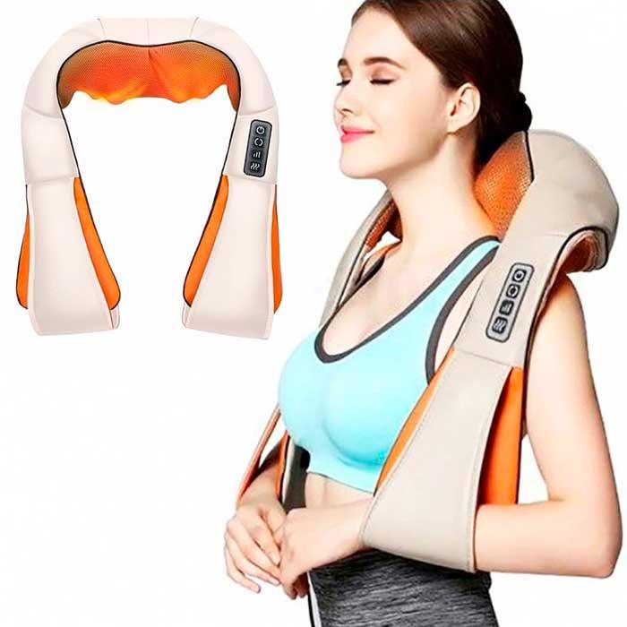 Массажер для шеи, плеч и спины c ИК-прогревом Massager of Neck Kneading