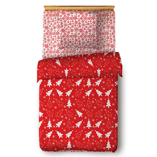 Ёлочки (красный) постельное белье поплин
