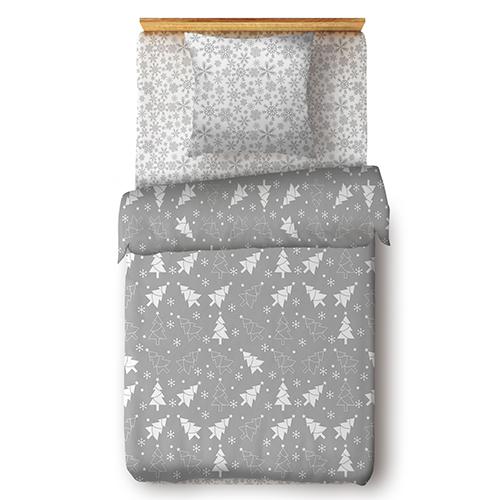 Ёлочки (серый) постельное белье поплин