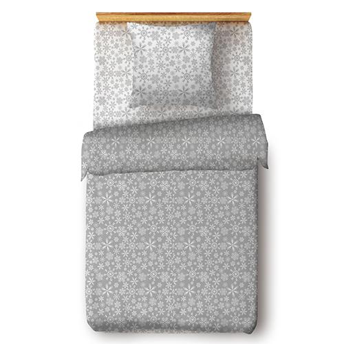 Снежинки (серый) постельное белье поплин