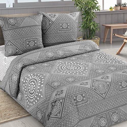 Узор серый постельное белье поплин