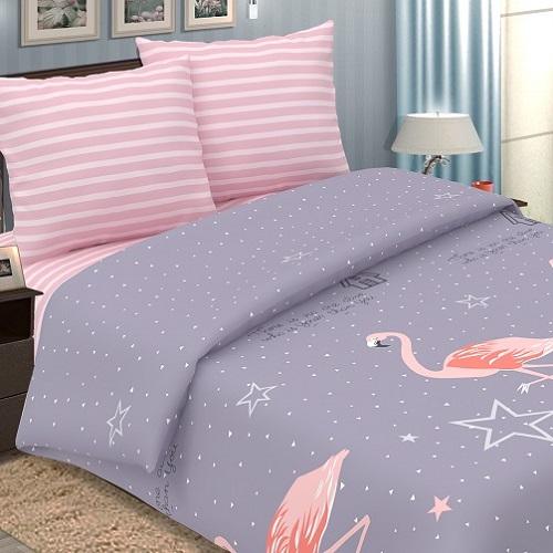 Фламинго постельное белье поплин