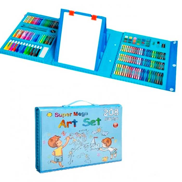 Набор для детского творчества со складным мольбертом в чемоданчике Super Mega Art Set