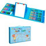 Набор для детского творчества со складным мольбертом в чемоданчике Super Mega Art Set, голубой