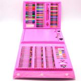 Набор для детского творчества со складным мольбертом в чемоданчике Super Mega Art Set 208, розовый