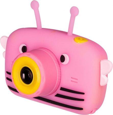 Детский цифровой фотоаппарат с селфи камерой GSMIN Fun Camera View розовый