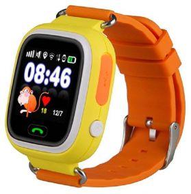 Умные детские часы с GPS Smart Baby Watch Q80 желтые