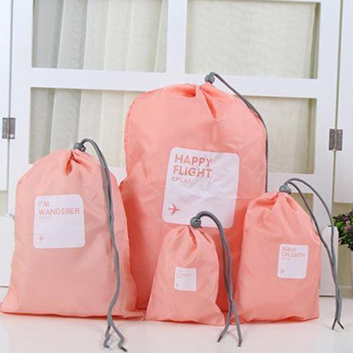 Водонепроницаемые мешочки для одежды Happy Flight Cplay, 4 шт, Цвет Светло-розовый