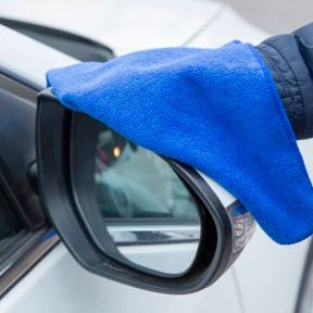 iizw Автомобильное полотенце из микрофибры Fibre Wiping Towel (60 х 39 см, синее) Новое, Гарантия, Доставка