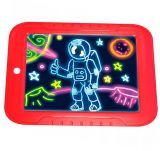 Магический планшет для рисования с подсветкой, красный