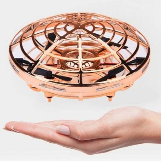 iizw Индуктивный мини - дрон квадрокоптер НЛО SP330 (золотой) Новый, Гарантия, Доставка
