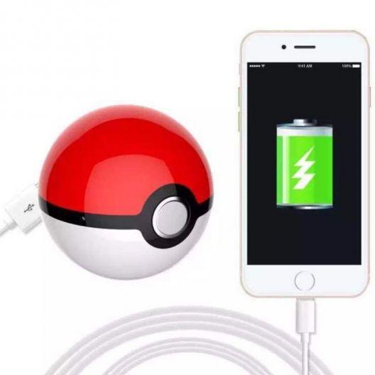 iizw Автономный внешний аккумулятор Шар Pokeball Power Bank (Покебол Пауэр Банк) 10000 мАч (красно-белый) Новый, Гарантия, Доставка