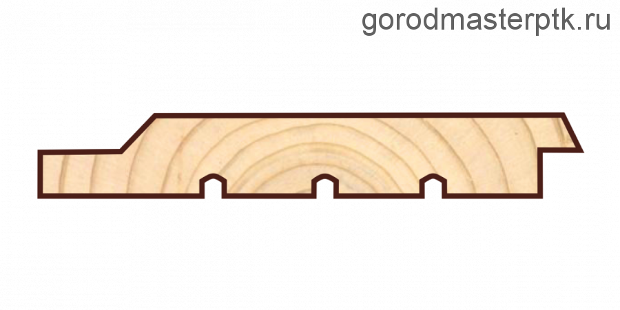 Имитация  бруса четверть 21х195х6000 (мм) сорт АВ  (Sраб=1,13)