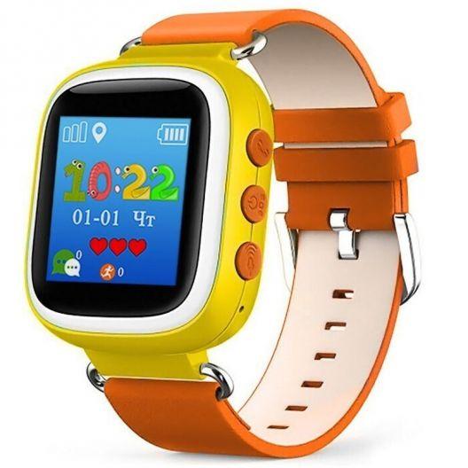 iizw Улучшенные детские умные часы-телефон с GPS-трекером Smart Baby Watch Q60S (СМАРТ БЕЙБИ ВОТЧ) (оранжевые) Новые, Гарантия, Доставка