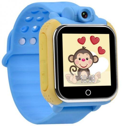 iizw Функциональные детские умные часы-телефон с GPS-трекером Smart Baby Watch Pockemon GW1000 (G75, Q100) (желто-голубые) Новые, Гарантия, Доставка
