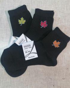Носки на осень | плотнее обычных | черные с рисунком