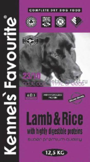 Kennels` Favourite Lamb & Rice Для взрослых собак 3 кг, 12.5 кг, 20 кг
