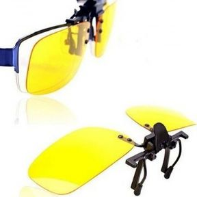 iizw Водительские очки антибликовые для комфортного управления автотранспортом Night View Clip Ons (НАЙТ ВЬЮ КЛИР ОНС) Новые, Гарантия, Доставка