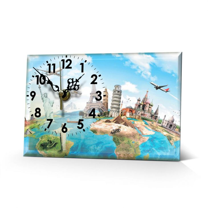 Настольные часы Весь мир