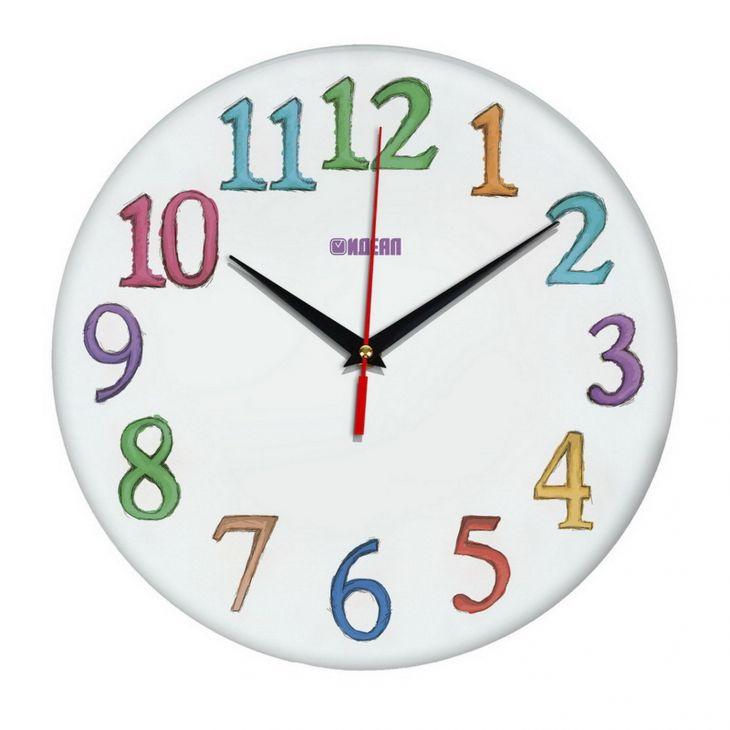 """Детские настенные часы с дизайном """"Акварель"""""""