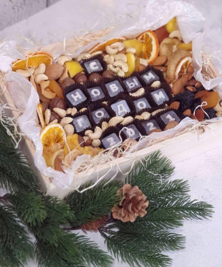 Новогодние буквы в шоколаде