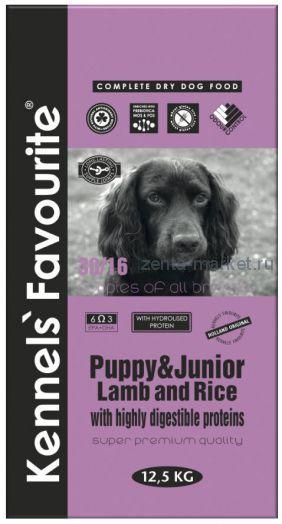 Kennels` Favourite Puppy & Junior Ягненок и Рис 3 кг, 12.5 кг, 20кг