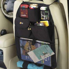 iizw Функциональный автомобильный органайзер с фиксацией на спинку переднего сидения SEAT BACK (черный) Новый, Гарантия, Доставка
