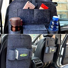 iizw Универсальный автомобильный органайзер с системой крепления на спинку переднего сидения StorageBag (темно-серый) Новый, Гарантия, Доставка