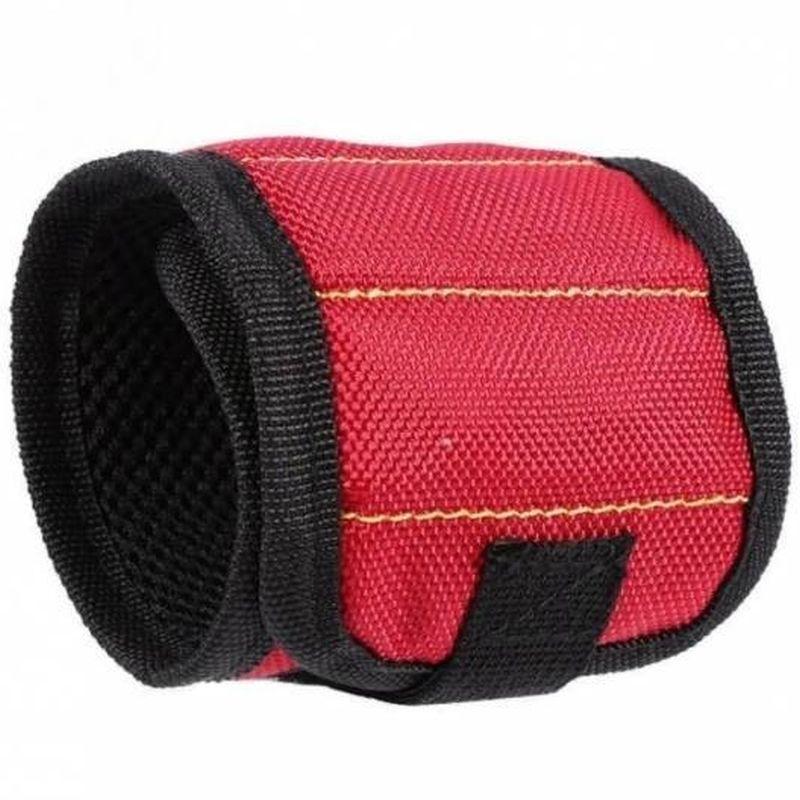 iizw Строительный матерчатый браслет с тремя магнитами Magnetic Wristband (МАГНЕТИК РИСТБАНД) (красный) Новый, Гарантия, Доставка