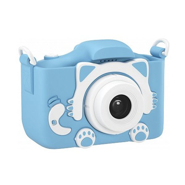 Детский цифровой фотоаппарат Children's Fun Camera Cute Kitty. Цвет: Голубой