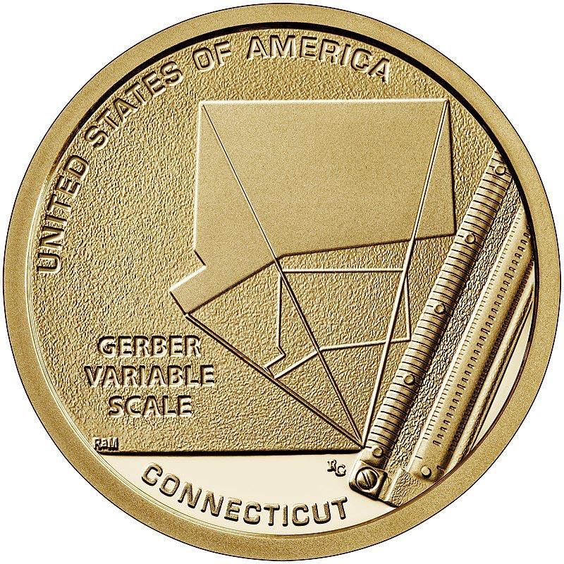 """1 доллар 2020г. Американские инновации """"Шкала переменных Гербера (Gerber Variable Scale)"""" №6"""