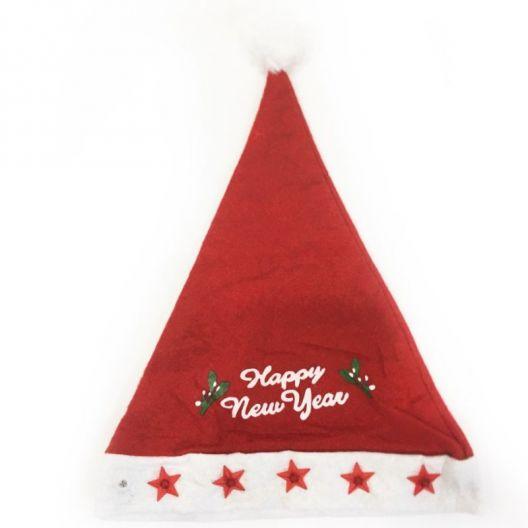 iizw Новогодний красный колпак HappyNewYear со звездами. Новый, Гарантия, Доставка