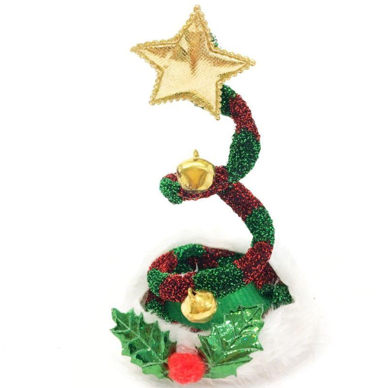 iizw Новогодняя праздничная заколка в волосы в виде колпака с пружинкой. Новая, Гарантия, Доставка