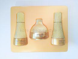Su:m37 Losec Summa Elixir 3 set -набор из 3 миниатюр обновленной омолаживающей линии Su:m 37 Losec Therapy с более концентрированными средствами, основана на ферментированном комплексе и более чем 25 экстрактах растений.