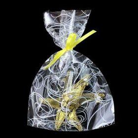 """Пакеты подарочные """"Серпантин"""", белый на прозрачном, 20*30 см, 100 шт"""