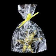 """Пакеты подарочные """"Серпантин"""", белый на прозрачном, 15*30 см, 100 шт"""