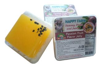 """Желе фруктовое со вкусом маракуйи и конняку 105 гр ТМ """"HAPPY FARM"""""""