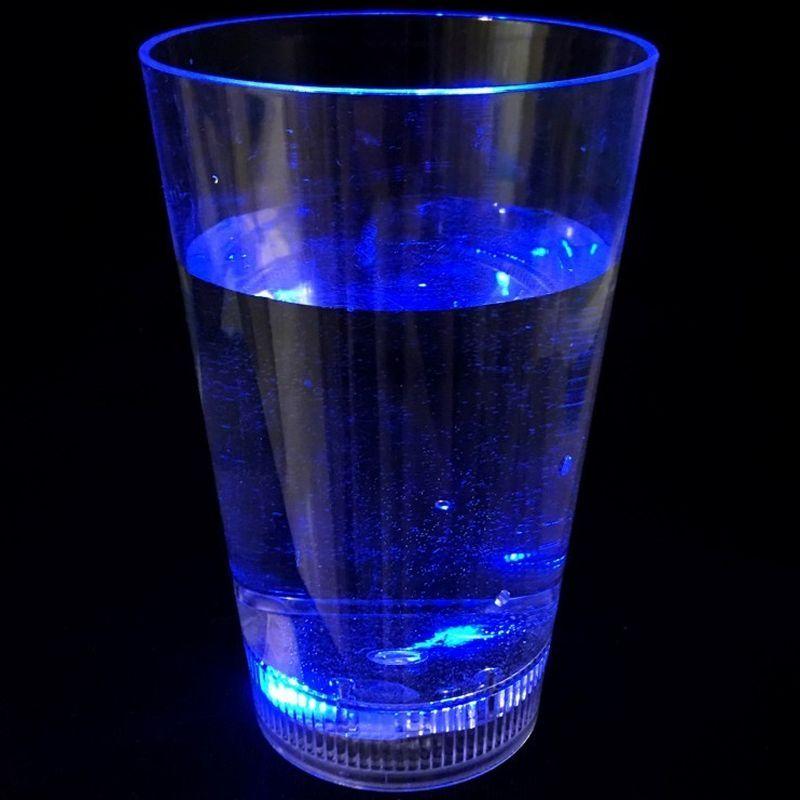 iizw Светящийся стакан-бокал для коктейлей и других напитков ColorCup (350 мл, 1 штука) Новый, Гарантия, Доставка