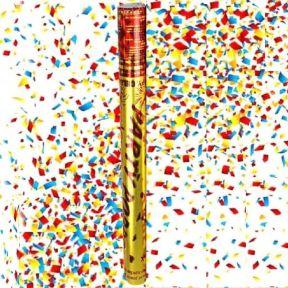iizw Пневматическая хлопушка с наполнителем-серпантином PartyPopper (длина 28 см, выстрел до 7 м) Новая, Гарантия, Доставка