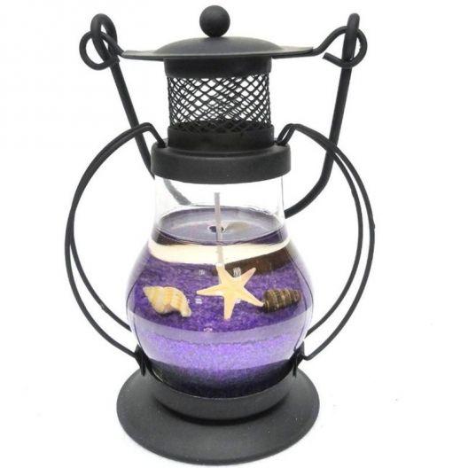 iizw Интерьерная фиолетовая гелевая ретро-свечка Керосиновый Светильник (высота 13 см) Новая, Гарантия, Доставка