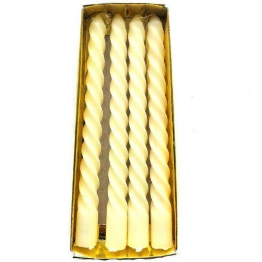iizw Набор из четырех витых ароматизированных свечек в подарочной упаковке (белого цвета, высота 15 см) Новый, Гарантия, Доставка