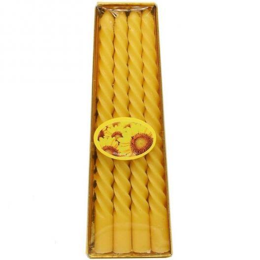 iizw Набор из четырех витых ароматизированных свечек в подарочной упаковке (желтого  цвета, высота 15 см) Новый, Гарантия, Доставка
