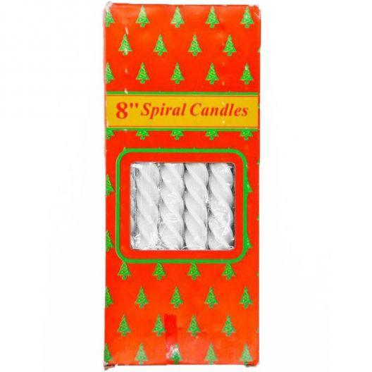 iizw Набор из двенадцати витых свечек в подарочной упаковке SpiralCandles (все белого цвета, высота 20 см) Новый, Гарантия, Доставка