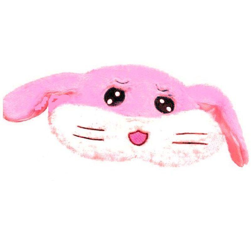 iizw Очаровательная пушистая шапка со светодиодной подсветкой и поднимающимися ушками (Хомячок с усиками, розовая) Новая, Гарантия, Доставка