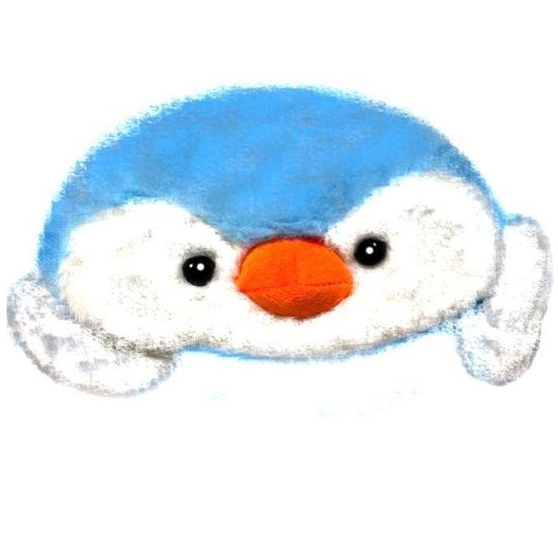 iizw Очаровательная пушистая шапка со светодиодной подсветкой и поднимающимися ушками (Пингвин, голубая) Новая, Гарантия, Доставка