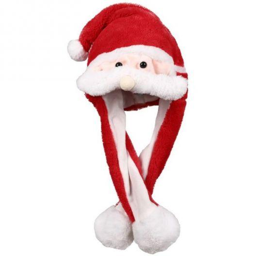 iizw Очаровательная пушистая шапка со светодиодной подсветкой и поднимающимися ушками (Санта Клаус, красная) Новая, Гарантия, Доставка