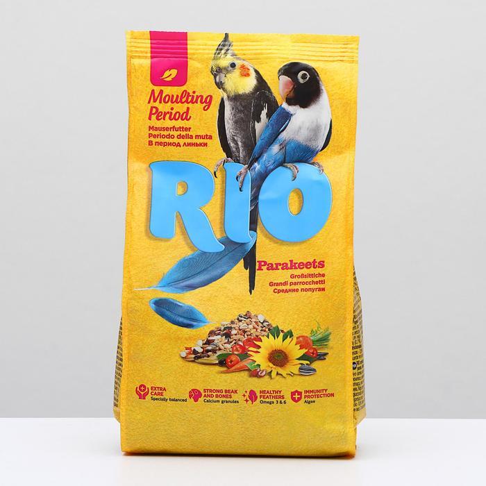 """Корм """"RIO"""" для волнистых попугаев в период линьки, 500 гр"""