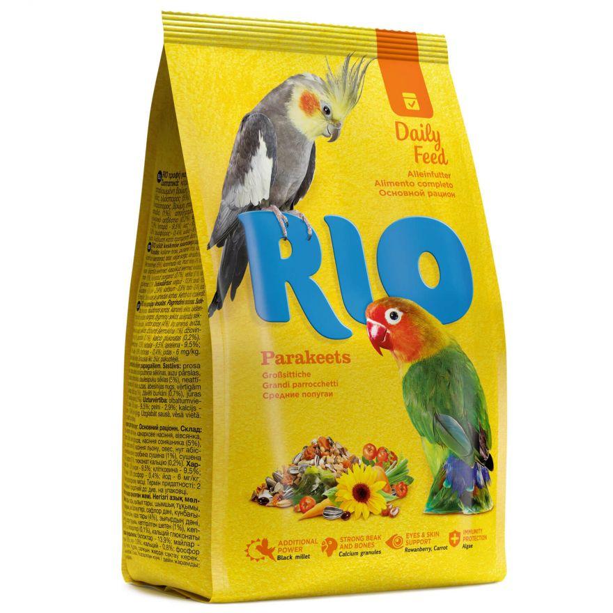 """Корм для средних попугаев """"RIO"""" (основной рацион), 500 г"""
