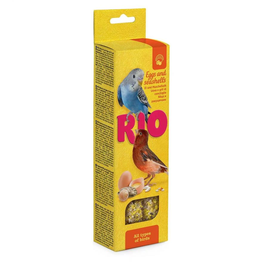 RIO. Палочки для всех видов птиц с яйцом и ракушечником